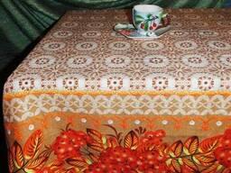 Скатерти. полотенца в украинском стиле, лён-рогожка - фото 2
