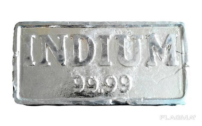 Indium Ingot   metal indium brand InOO GOST 10297-94