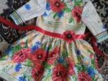Платья детские и взрослые, маки, хлопок, ручная работа - фото 4