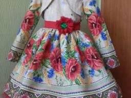 Платья детские и взрослые, маки, хлопок, ручная работа - фото 5