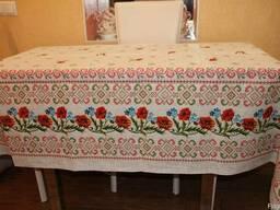Скатерти. полотенца в украинском стиле, лён-рогожка - фото 5