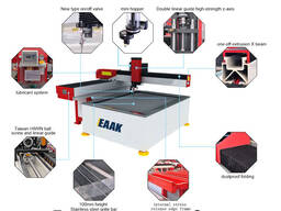 Water jet cutting machine for stone glass cutter